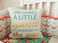 Sweet Dreams, Ella Mae • Nursery Reveal • Everyday Living • Baby Girl Nursery • Coral and Teal Nursery • Carousel Designs Nursery
