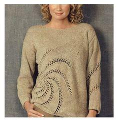 'Swirl' pullover, a Norah Gaughan pattern