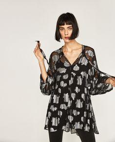 METALLIC FLORAL DRESS-DRESSES-SALE-WOMAN | ZARA Indonesia