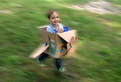 It's a Makedo Aeroplane by Ezra and his mum Tara