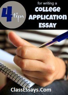 College application essays.