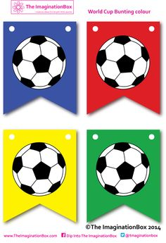 Kids soccer/football printables and activities - The Imagination Box Theme Sport, Soccer Theme, Soccer Party, Sports Party, Soccer Ball, Football Team Kits, Football Themes, Free Football, Soccer Birthday Cakes