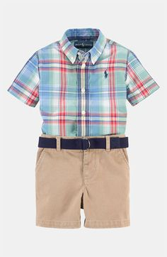Ralph Lauren Shirt & Shorts (Infant) available at #Nordstrom