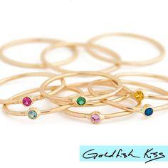 Minnow Gemstone Stacking Rings