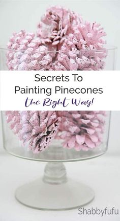 pinecones christmasdecorating budgetchristmas christmasprojects holidaydecor diyholiday pinkchristmas pineconecrafts pink painting glitter shabbyfufu How to paint How to paint pinecones the right way! Pinecones are free, so definitely budget fr Pine Cone Art, Pine Cone Crafts, Pine Cones, Tree Crafts, Decor Crafts, Christmas On A Budget, Shabby Chic Christmas, Christmas Crafts, Christmas Tree Pinecones