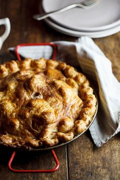 Apple pie with salted caramel