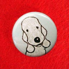 Bedlington Terrier Button Badge