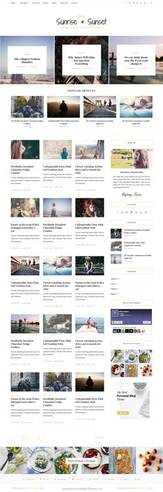 Sunrise & Sunset is an elegant personal blogging #HTML5 #template for Bloggers, fashion designer to start your personal or #magazine #blog. Download Now!