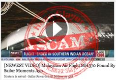 Facebook video scam of Malaysia Airlines Flight MH370