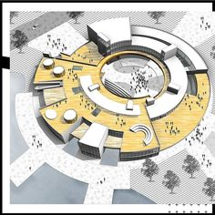 Nice project by Via Architecture Symbols, Concept Models Architecture, Architecture Drawing Plan, Architecture Presentation Board, Library Architecture, Cultural Architecture, Architecture Visualization, School Architecture, Architecture Design