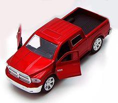 Dodge Ram 1500 Pickup Truck, Red - Jada Toys Just Trucks 97015 - 1/32 scale Diecast Model Toy Car