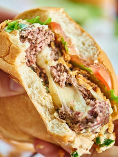 Pepper Jack Stuffed Burger with Jalapeño Cream Sauce