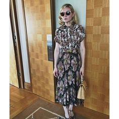 Kirsten Dunst in Gucci and Ferragamo shoes