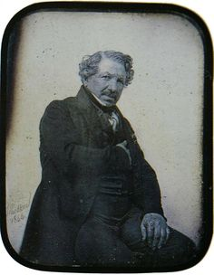 Louis Daguerre, inventor of one of the first successful photographic processes: Nov. 1787 - Photo: E. Louis Daguerre, Today In History, History Of Photography, People Of Interest, Great Photographers, Old Master, French Artists, Vintage Pictures, Famous Artists
