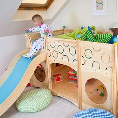 CEDARWORKS RHAPSODY PLAYBED...this would be great!  My kids would never leave their room!  Score!