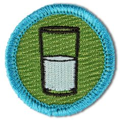 Optimism: for always believing the glass is half full. From Disorderly goods.  Proving that adults need badges of merit too!  I love it!