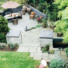 Give your patio a unique look by mixing different geometic shapes. More patios: http://www.bhg.com/home-improvement/patio/designs/build-patio-retreat/?socsrc=bhgpin040113geometricpatio