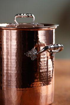 Copper stock pot #kitchen #copper