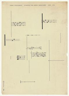 Experimental music notation resources - Toshi Ichiyanagi, including some written instructions for interpretation7