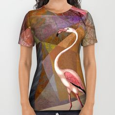 Portrait-Version of Flamingo P23, from my new project work  ©2016 by Pia Schneider | atelier COLOUR-VISION. #tshirt #tees #women #wearableart  #flamingos, #rosequartz #polygons, #triangles #art  #animals #tropical #pink #geometric #kunst #piaschneider #society6 #dierscheid #ateliercolourvision