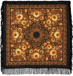 "Wool shawl ""Sunflowers"""