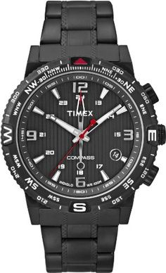 Shop for Timex Men's Intelligent Quartz Compass Black Stainless Steel Bracelet Watch. Get free delivery On EVERYTHING* Overstock - Your Online Watches Store! Get in rewards with Club O! Black Stainless Steel, Stainless Steel Watch, Stainless Steel Bracelet, Sport Watches, Cool Watches, Watches For Men, Black Bracelets, Bracelets For Men, Timex Watches