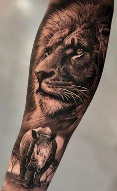 cool lion tattoo ideas © tattoo artist • SERGIO FERNANDEZ• @sergiofernandeztattoo 💕💕💕💕💕