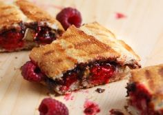 2 Minute Raspberry Nutella Panini