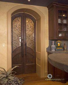 Wine cellar double door entrance