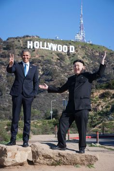 Obama and Kim Jong-un Are Hanging Out Together in LA (7 pics)