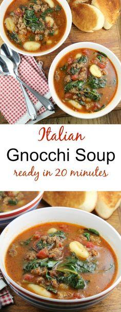 Italian Gnocchi Soup Recipe found at missinthekitchen.com