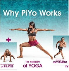 PiYo, with Chalene Johnson, combines the muscle-sculpting, core-firming benefits of Pilates with the strength and flexibility advantages of yoga. Fitness Dvd, Healthy Tips, Healthy Recipes, 3 Week Diet, Problem And Solution, Yoga Flow, Health Problems, Beachbody, Workout Programs