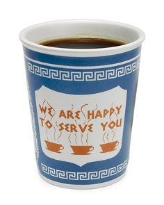New York Greek Deli-style coffee cup