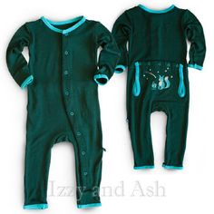 Kickee Pants Infant Boys Camping Fox Appliqué Coverall