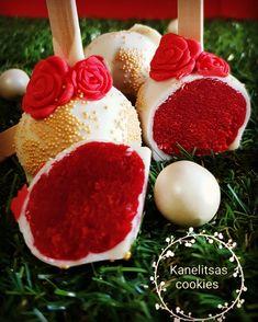 Red velvet cake pops yummy #madebykanelitsa #kanelitsascookies #cakepops
