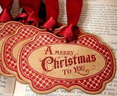 Christmas Greetings in RedHandmade Vintage Style by craftypagan