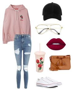 """""""2017~04~11"""" by emmaszarka on Polyvore featuring Topshop, Converse, Kate Spade, Lime Crime, rag & bone and ban.do"""