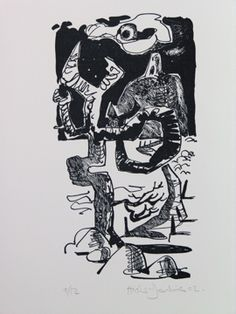 """Illustration by Clive Hicks-Jenkins from """"The Mare's Tale"""" by Catriona Urquhart, 2001 (Old Stile Press)"""