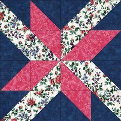 Pink Floral Blooms Pre-Cut Quilt Kit Blocks 36x48