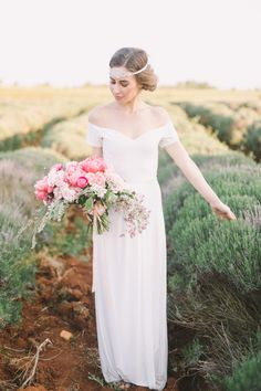 Sleek + simple off the shoulder dress: http://www.stylemepretty.com/destination-weddings/2016/06/24/an-inspo-complete-with-an-off-the-rack-wedding-gown-you-need-to-own/ | Photography: Nastja Kovacec Photography - http://www.nastjakovacec.com/