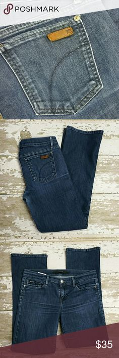 Joe's Jeans Provocateur fit.  70/30 blend.  Very light and soft.  29/28 Joe's Jeans Jeans Boot Cut