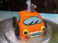 orange car cake