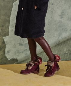 TRAPPER BOOTS // BURGUNDY