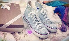 rhinestone converse shoes ab crystals bling converse by AlinaShop, $200.00