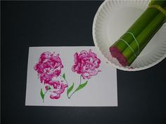 Four Fun Art Projects with Vegetables: Celery Rose Prints, Broccoli Trees, Veggie Pizza & Textured Carrot
