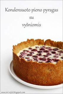 Kondensuoto pieno pyragas su vyšniomis