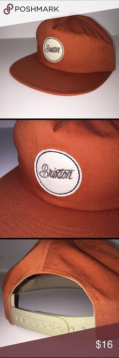 Brixton Hat from Urban Outfitters, Orange Snapback Brixton brand from Urban Outfitters, burnt orange color with tan accents, embroidered logo patch, worn only twice! Urban Outfitters Accessories Hats