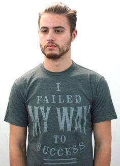 I Failed My Way To Success Short Sleeve Crew Neck