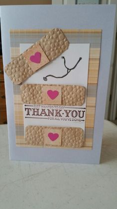 Thank you card for nurses.