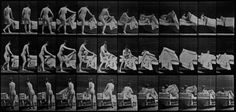 Eadweard Muybridge, Woman turning around in surprise and running away', Plate 73 from Muybridge's Human Figure in Motion., USC Libraries